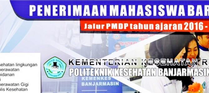 Penerimaan Mahasiswa Baru Jalur PMDP Tahun Ajaran 2016-2017